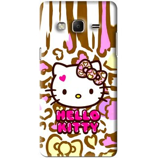 Snooky Printed Cute Kitty Mobile Back Cover For Samsung Galaxy j3 - Multi