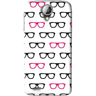 Snooky Printed Spectacles Mobile Back Cover For Lenovo S820 - Multi