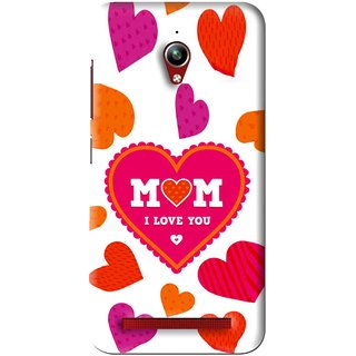 Snooky Printed Mom Mobile Back Cover For Asus Zenfone Go - White