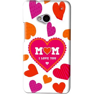Snooky Printed Mom Mobile Back Cover For HTC One M7 - White