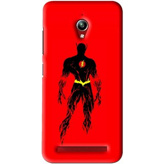 Snooky Printed Electric Man Mobile Back Cover For Asus Zenfone Go - Red
