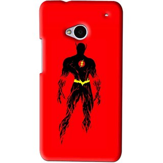 Snooky Printed Electric Man Mobile Back Cover For HTC One M7 - Red