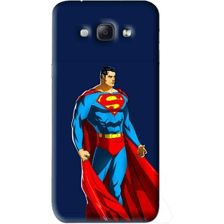 Snooky Printed Super Hero Mobile Back Cover For Samsung Galaxy A8 - Blue