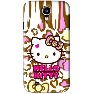 Snooky Printed Cute Kitty Mobile Back Cover For Samsung Galaxy S4 - Multi