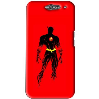 Snooky Printed Electric Man Mobile Back Cover For Infocus M812 - Red