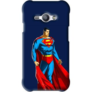 Snooky Printed Super Hero Mobile Back Cover For Samsung Galaxy Ace J1 - Blue