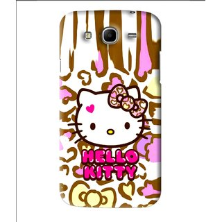Snooky Printed Cute Kitty Mobile Back Cover For Samsung Galaxy Mega 5.8 - Multi
