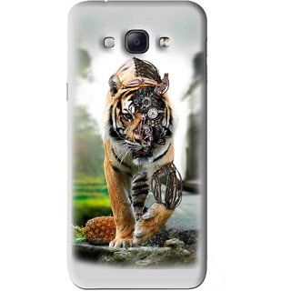 Snooky Printed Mechanical Lion Mobile Back Cover For Samsung Galaxy A8 - Grey