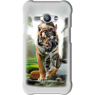 Snooky Printed Mechanical Lion Mobile Back Cover For Samsung Galaxy Ace J1 - Grey