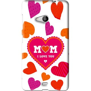Snooky Printed Mom Mobile Back Cover For Microsoft Lumia 535 - White