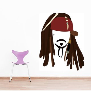 Wall Sticker Captain Jack Sparrow Design (Cover Area :- 22 X 28 inch)