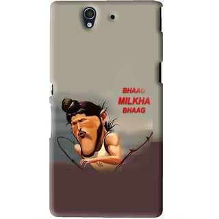 Snooky Printed Bhaag Milkha Mobile Back Cover For Sony Xperia Z - Multi