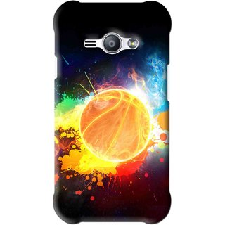 Snooky Printed Paint Globe Mobile Back Cover For Samsung Galaxy Ace J1 - Multi
