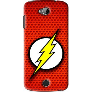Snooky Printed Dont Touch Mobile Back Cover For Acer Liquid Z530 - Red