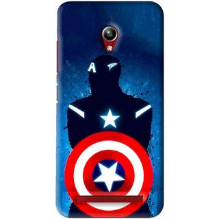 Snooky Printed America Sheild Mobile Back Cover For Asus Zenfone Go - Blue