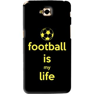 Snooky Printed Football Is Life Mobile Back Cover For Lg G Pro Lite - Black