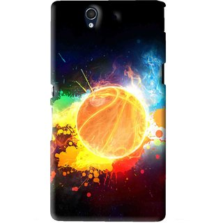 Snooky Printed Paint Globe Mobile Back Cover For Sony Xperia Z - Multi