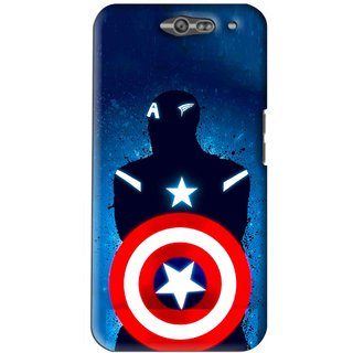 Snooky Printed America Sheild Mobile Back Cover For Infocus M812 - Blue