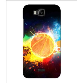Snooky Printed Paint Globe Mobile Back Cover For Huawei Y560 - Multi