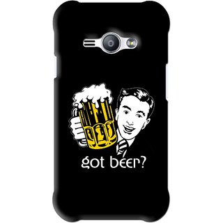 Snooky Printed Got Beer Mobile Back Cover For Samsung Galaxy Ace J1 - Black