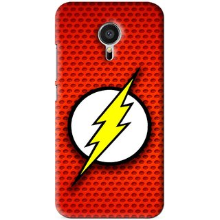 Snooky Printed Dont Touch Mobile Back Cover For Meizu MX5 - Red