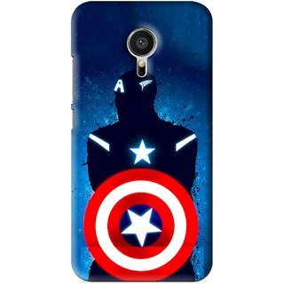 Snooky Printed America Sheild Mobile Back Cover For Meizu MX5 - Blue