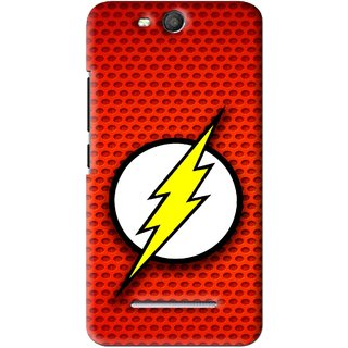Snooky Printed Dont Touch Mobile Back Cover For Micromax Bolt Q392 - Red