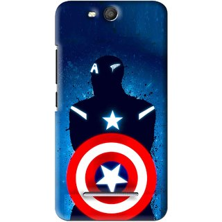 Snooky Printed America Sheild Mobile Back Cover For Micromax Bolt Q392 - Blue