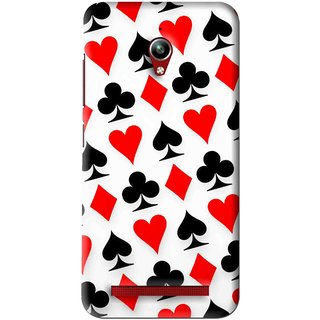 Snooky Printed Playing Cards Mobile Back Cover For Asus Zenfone Go - Multi