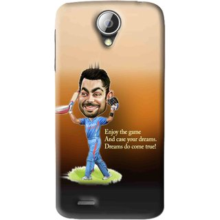 Snooky Printed True Dream Mobile Back Cover For Lenovo A830 - Brown