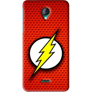 Snooky Printed Dont Touch Mobile Back Cover For Micromax Canvas Unite 2 - Red