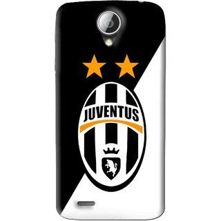 Snooky Printed Football Club Mobile Back Cover For Lenovo S820 - Black