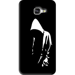Snooky Printed Thinking Man Mobile Back Cover For Samsung Galaxy A5 2016 - Black
