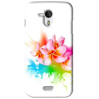 Snooky Printed Colorfull Flowers Mobile Back Cover For Micromax Canvas HD A116 - Multi