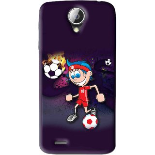 Snooky Printed My Game Mobile Back Cover For Lenovo S820 - Puple