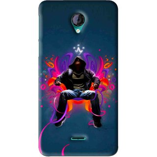 Snooky Printed Live In Attitude Mobile Back Cover For Micromax Canvas Unite 2 - Blue