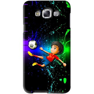 Snooky Printed High Kick Mobile Back Cover For Samsung Galaxy E5 - Multi