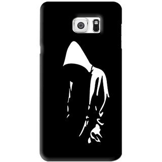Snooky Printed Thinking Man Mobile Back Cover For Samsung Galaxy Note 6 - Black