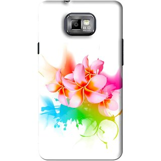 Snooky Printed Colorfull Flowers Mobile Back Cover For Samsung Galaxy S2 - Multi