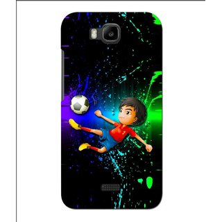 Snooky Printed High Kick Mobile Back Cover For Huawei Y560 - Multi