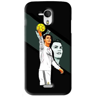 Snooky Printed I Win Mobile Back Cover For Micromax Canvas HD A116 - Black