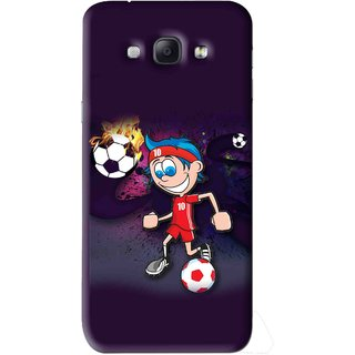 Snooky Printed My Game Mobile Back Cover For Samsung Galaxy A8 - Puple