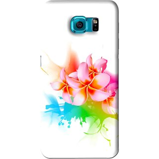 Snooky Printed Colorfull Flowers Mobile Back Cover For Samsung Galaxy S6 - Multi