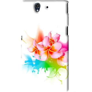 Snooky Printed Colorfull Flowers Mobile Back Cover For Sony Xperia Z - Multi