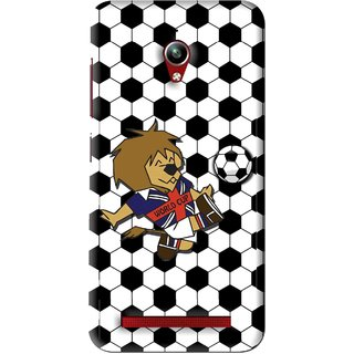 Snooky Printed Football Cup Mobile Back Cover For Asus Zenfone Go - Multi