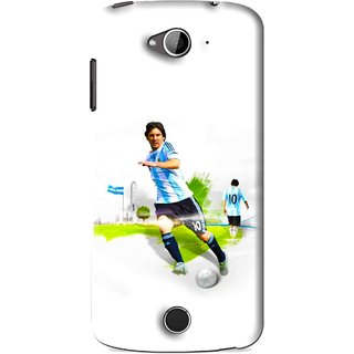 Snooky Printed Football Mania Mobile Back Cover For Acer Liquid Z530 - White