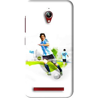 Snooky Printed Football Mania Mobile Back Cover For Asus Zenfone Go - White