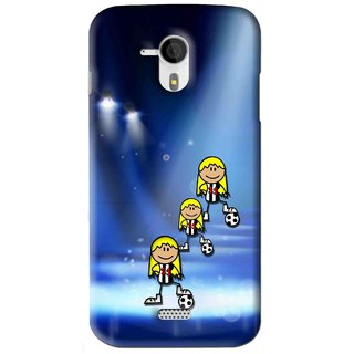 Snooky Printed Girls On Top Mobile Back Cover For Micromax Canvas HD A116 - Blue