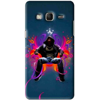 Snooky Printed Live In Attitude Mobile Back Cover For Samsung Tizen Z3 - Blue