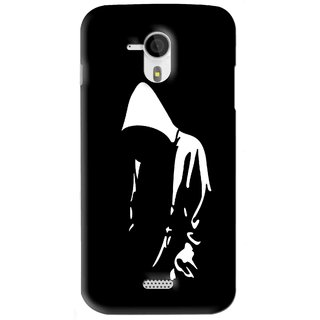 Snooky Printed Thinking Man Mobile Back Cover For Micromax Canvas HD A116 - Black